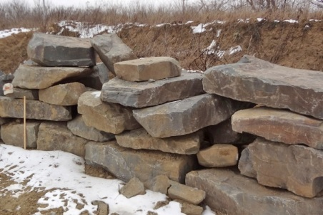 Natural Stone Retaining Block